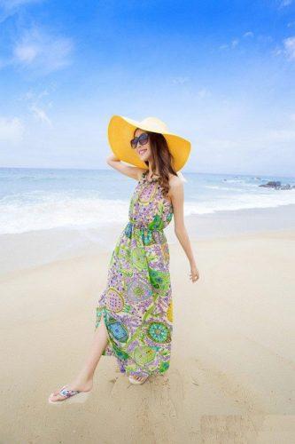 BST váy maxi đi biển mùa hè 2017 chinh phục mọi cô nàng