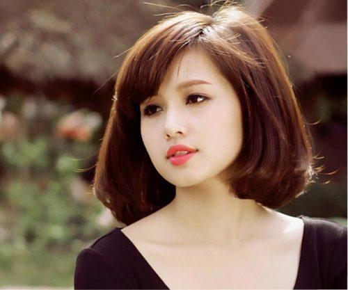 Kiểu tóc tém cho gương mặt tròn đáng yêu
