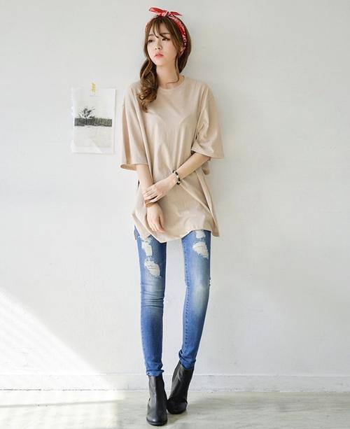 áo oversize cải thiện vóc dáng cho người gầy