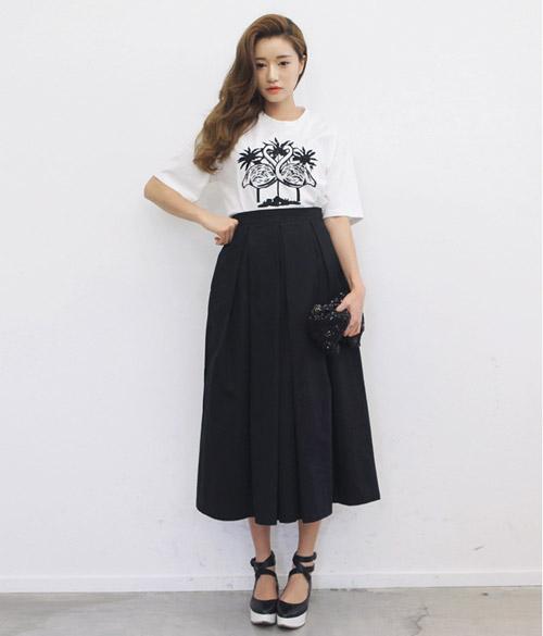 chân váy chữ a dài