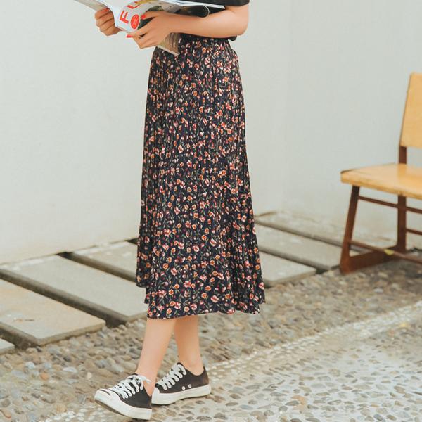 chân váy chữ a hoa nhí
