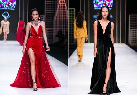 xu hướng thời trang 2017 đầm xẻ hông