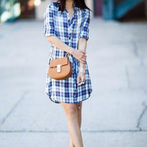 Váy sơ mi đẹp thanh lịch hợp guu thời trang hè