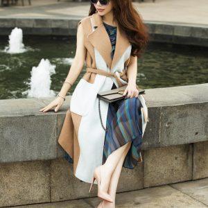 Hoa khôi Lan Phương bật mí bí quyết mặc áo khoác không tay đẹp cho vóc dáng nhỏ nhắn